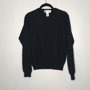 Jones Wear Sport Black Cashmere Crew Neck Sweater